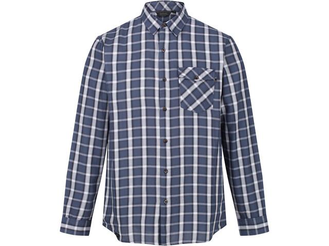 Regatta Lonan Camiseta Manga Larga Hombre, azul